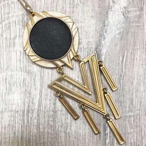 House Of Harlow Tassled Chevron Necklace